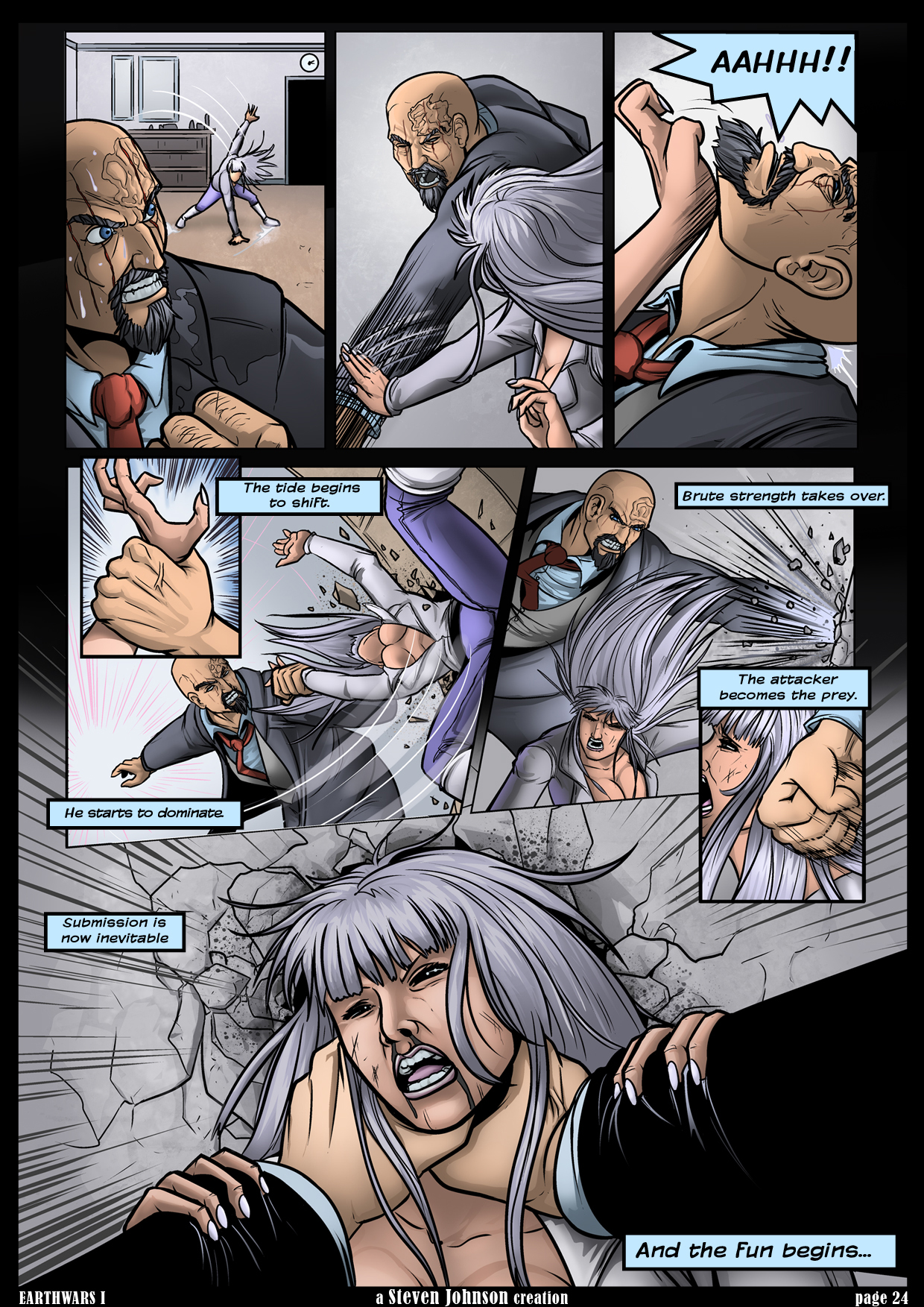 Comic 24 - DRAGON HEART * Updated Twice A Month * Follow me at: www.freelanced.com/stevenrjohnson
