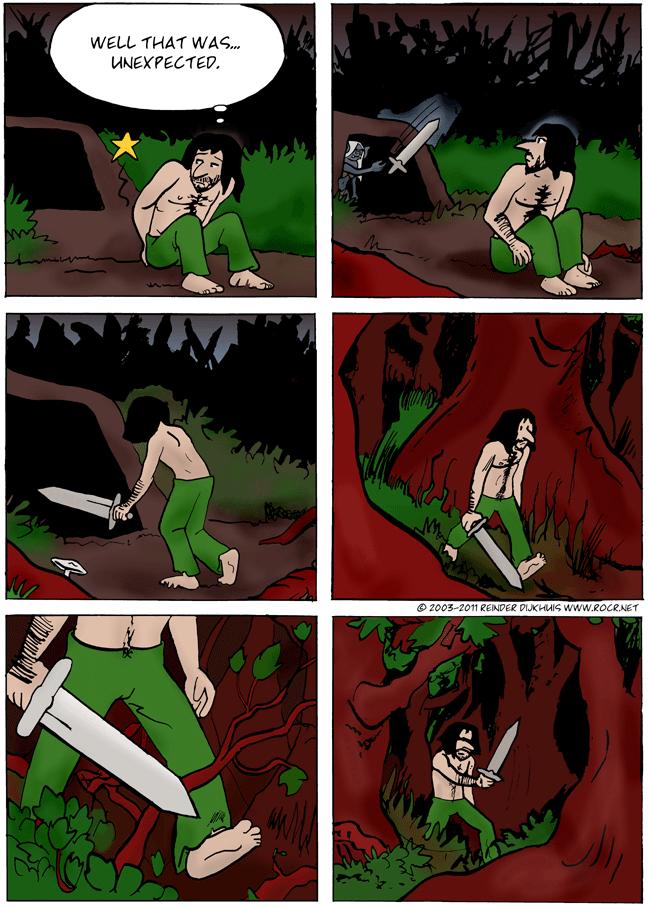 Walking through the undergrowth