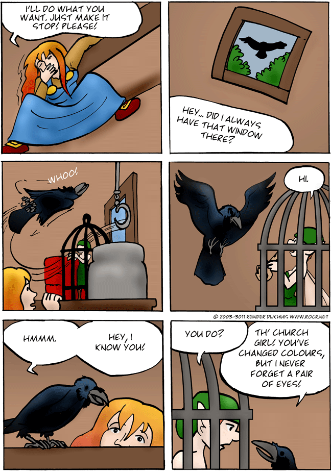 That's an eery thing to say for a raven!