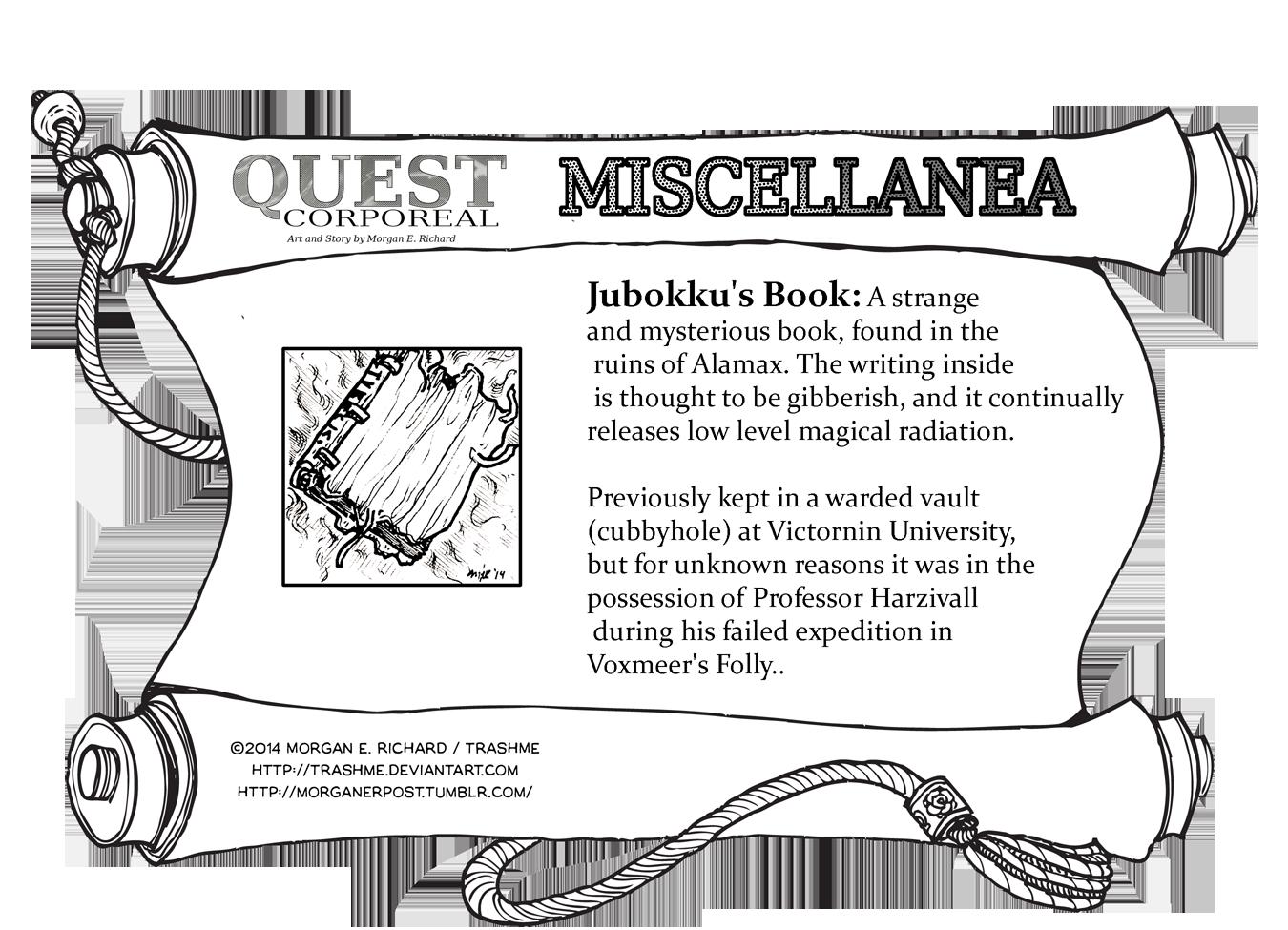 Miscellanea Corporeal: Jubokku's Book