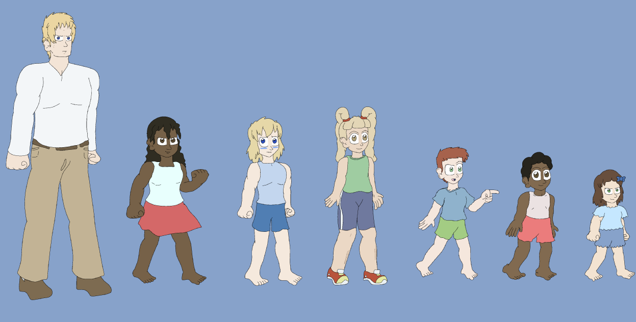 Re-Designs 1: Main Heroes