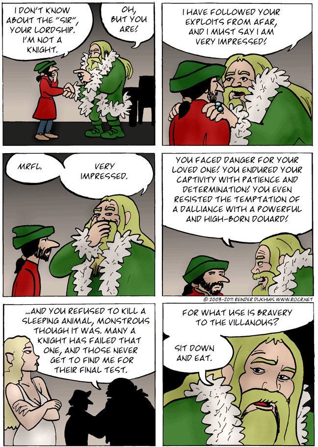 The big green guy talks about knighthood