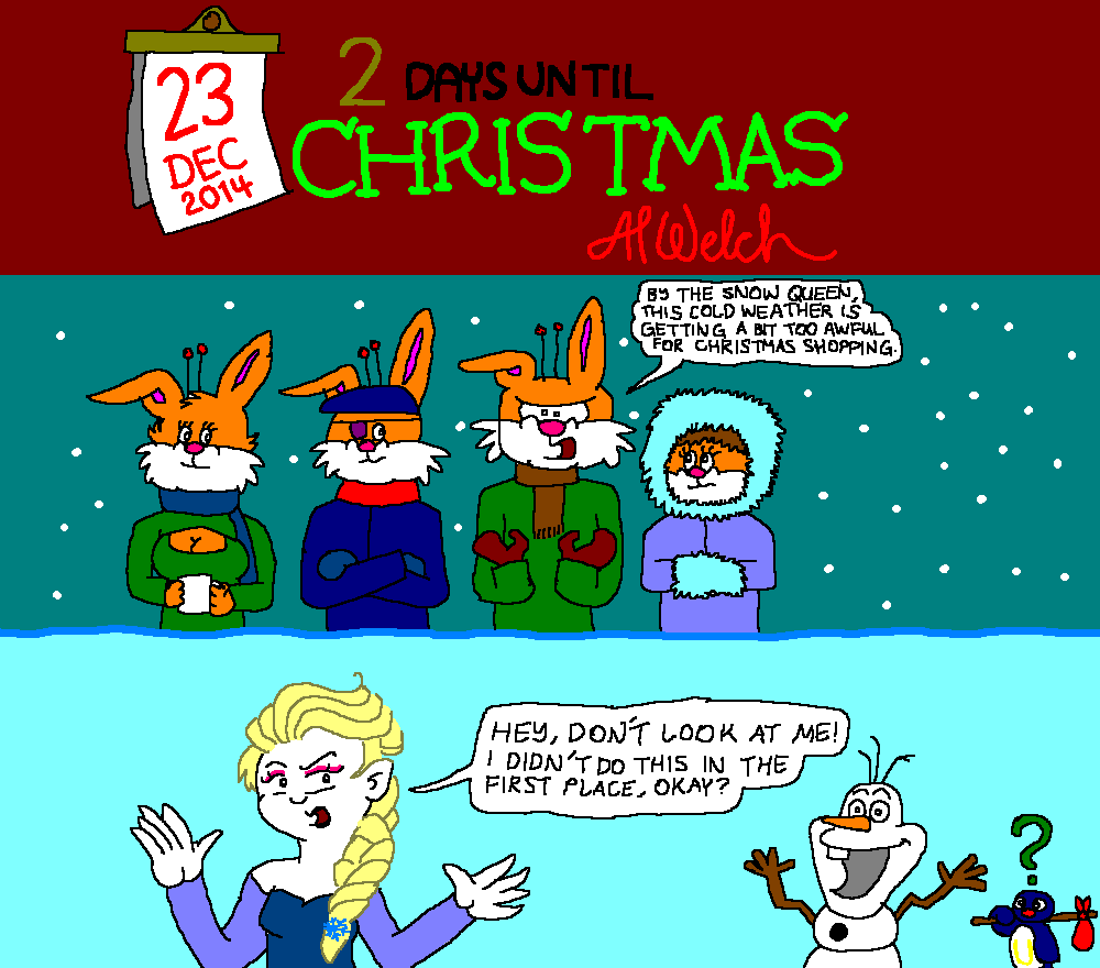 Advent 2014: Day 24: Comedy's a bit Frozen, yes?