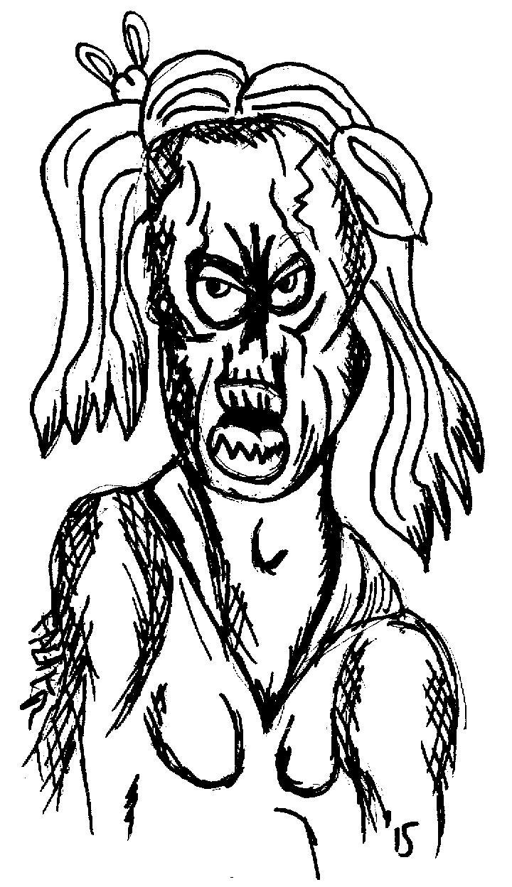 corpse girl portrait