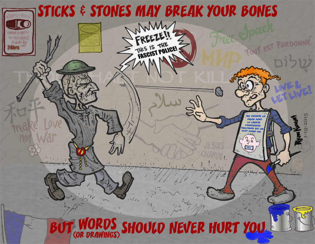 Stick & Stones May Break Your Bones But Words (or Drawings) Should Never Hurt You