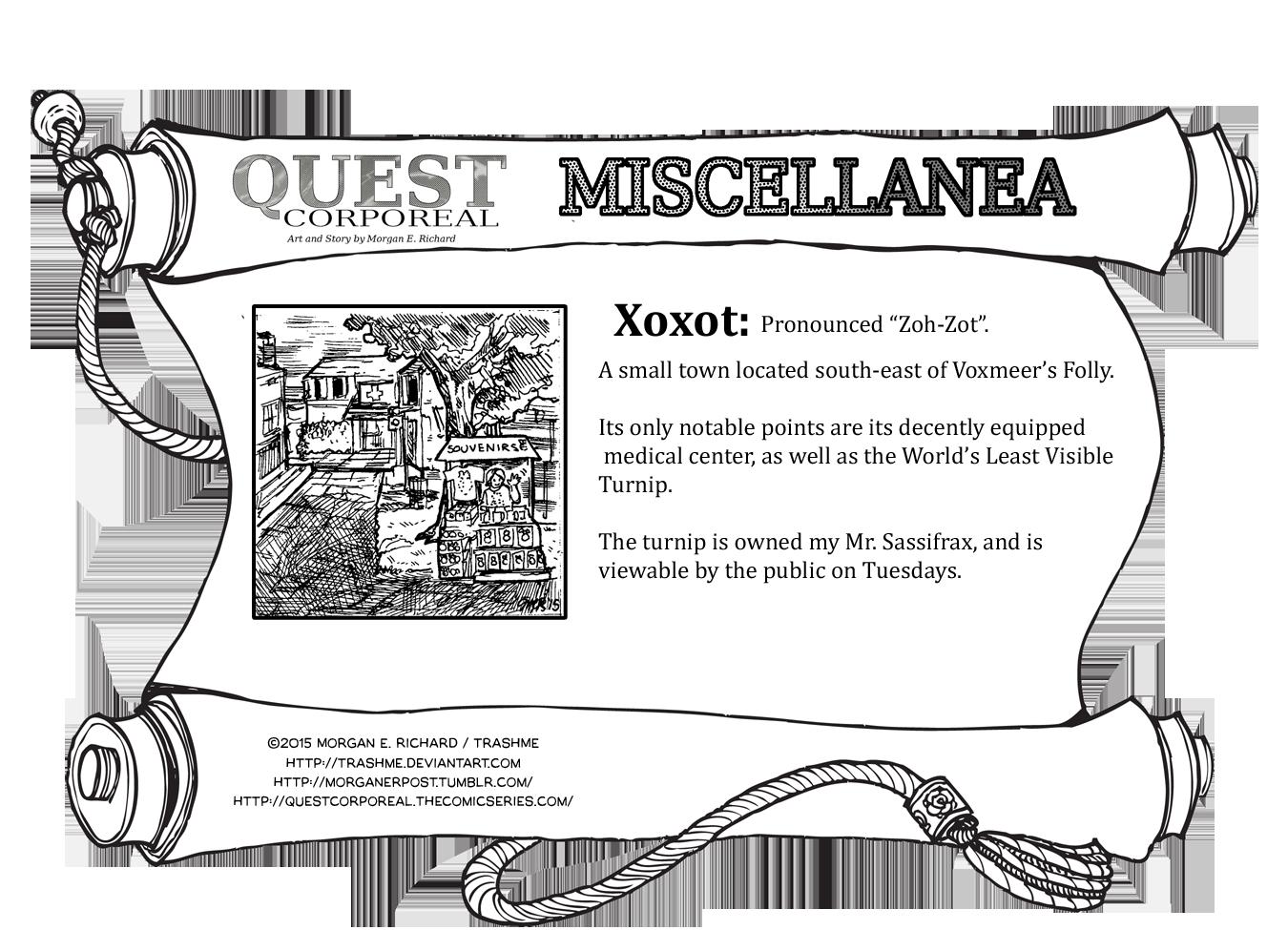 Miscellanea Corporeal: Xoxot