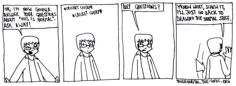No One's Curious...