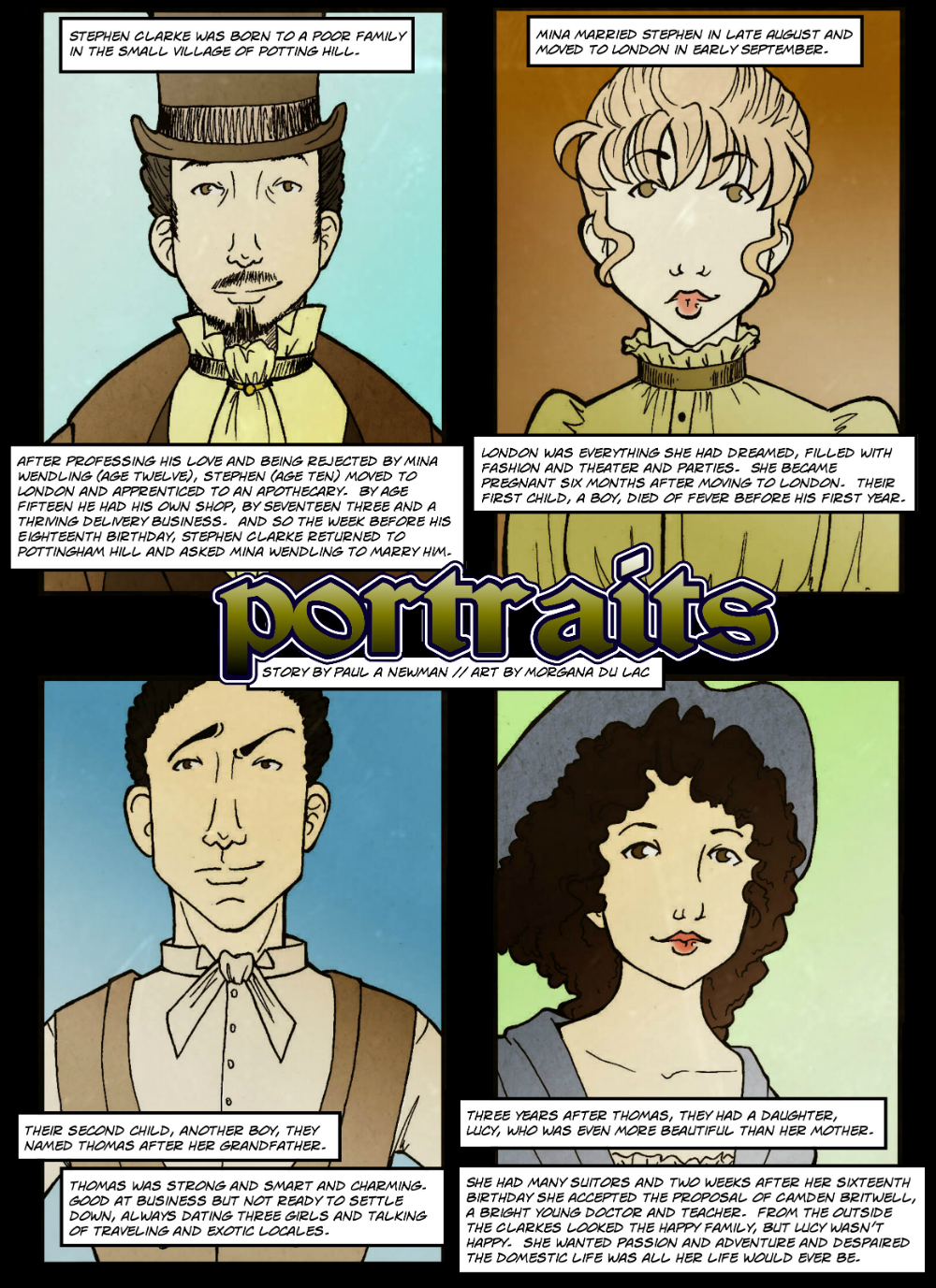 PORTRAITS page 1 - in The Book of Lies