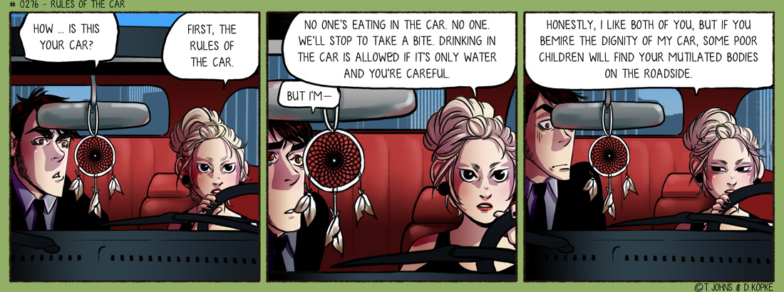 Rules of the car