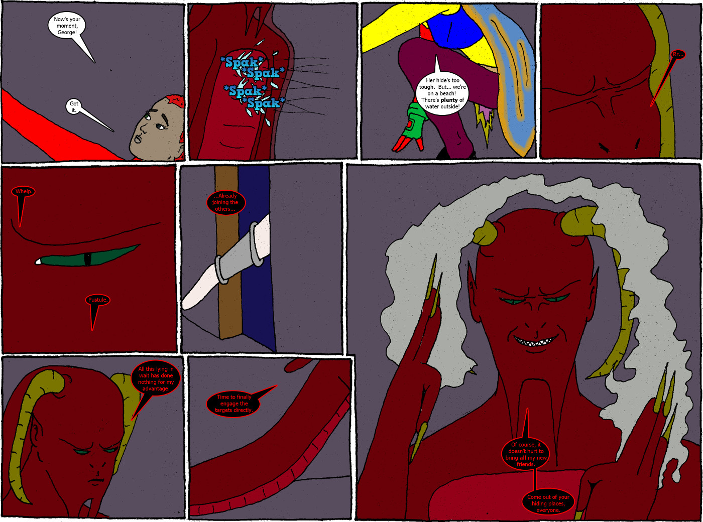 Pages 28 and 29: issue 2 - D'Vlish Attacks