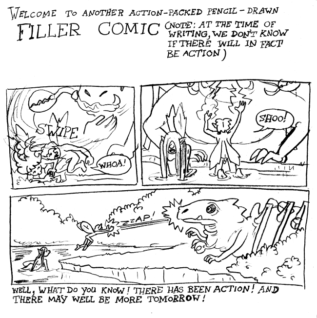 Action-packed filler