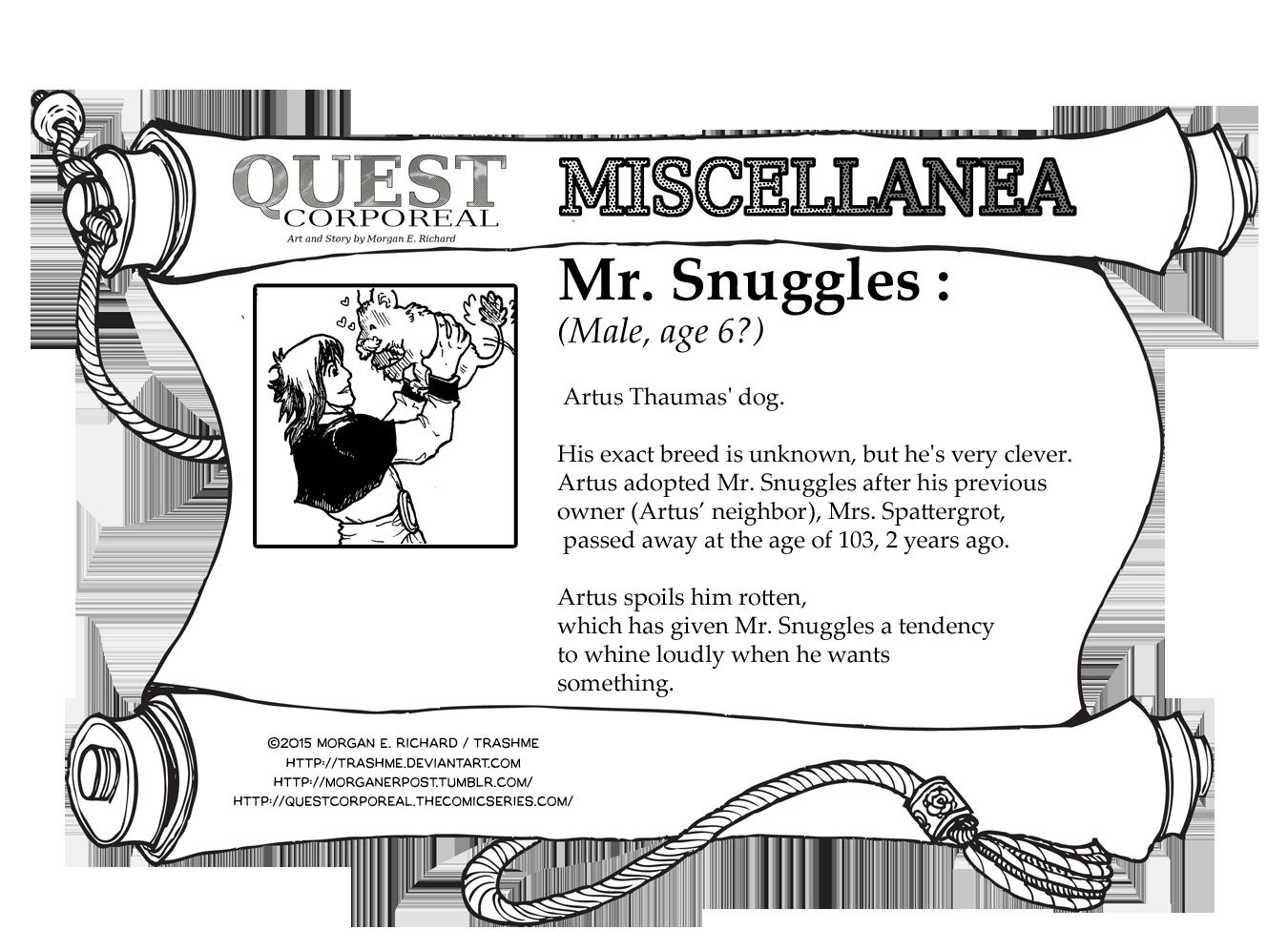 Miscellanea Corporeal: Mr. Snuggles