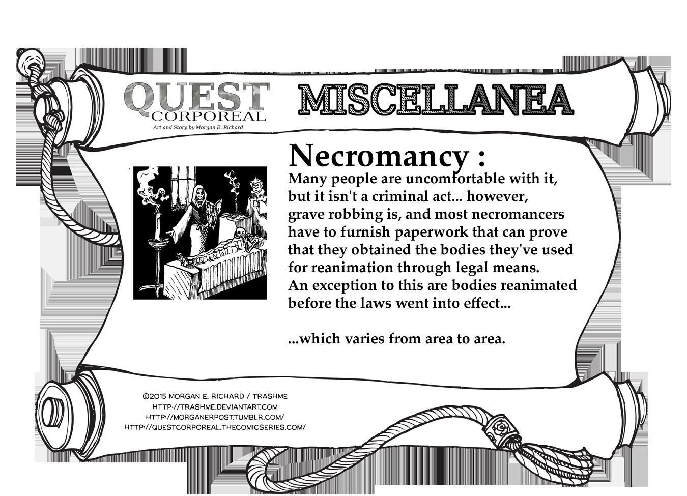 Miscellanea Corporeal: Necromancy