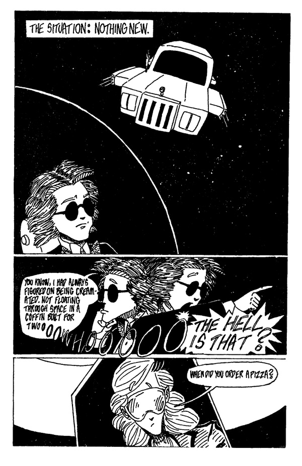 In Space One Man Can Hear You Scream - Page 1
