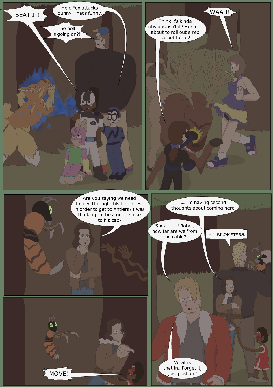Blue vs. Green, Page 16