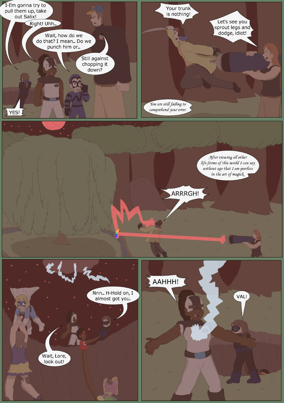 Blue vs. Green, Page 33