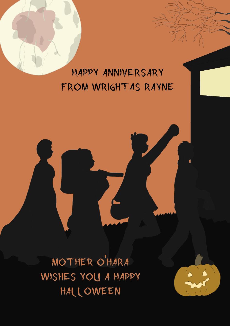 Wright as Rayne's Fifth Anniversary