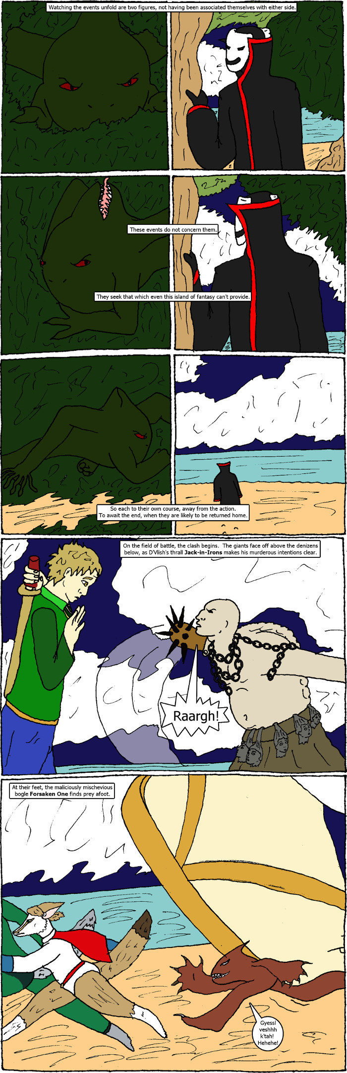 Pages 32-33: issue 2 - D'Vlish Attacks