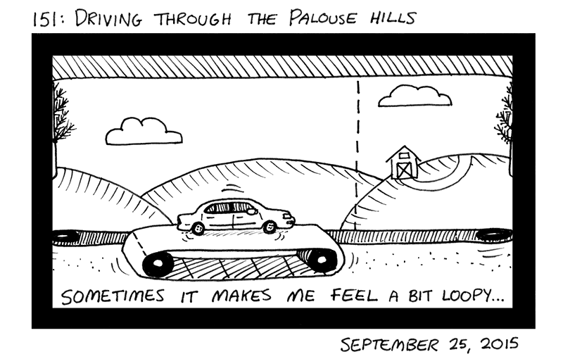 Driving Through the Palouse Hills