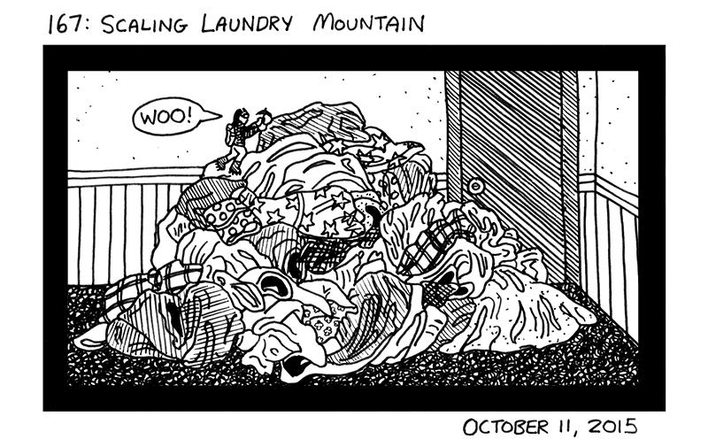 Scaling Laundry Mountain