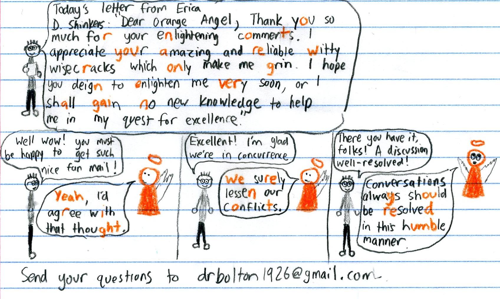 Orange Angel Fan Mail