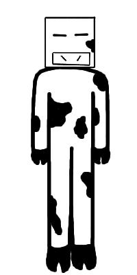 Anthropo-dress-up week - CubeCow