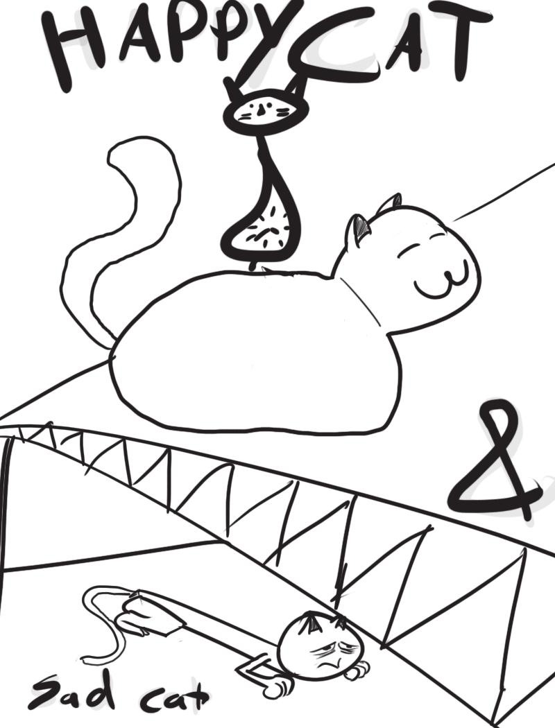 Happy Cat & Sad Cat 2