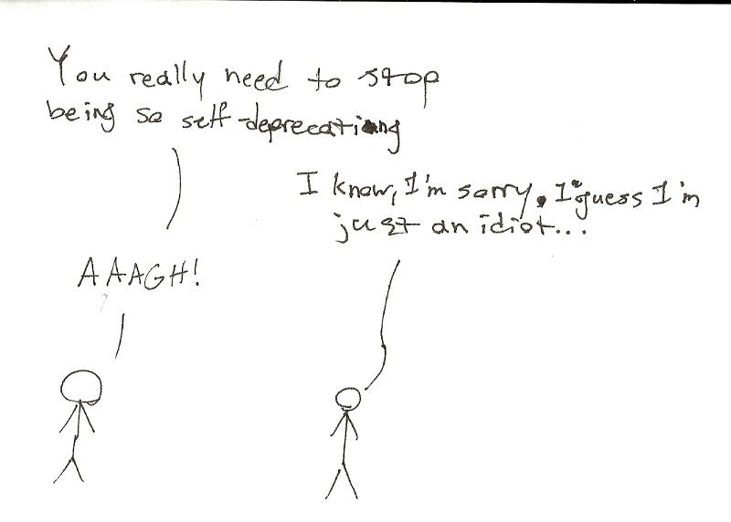 Self-deprecation