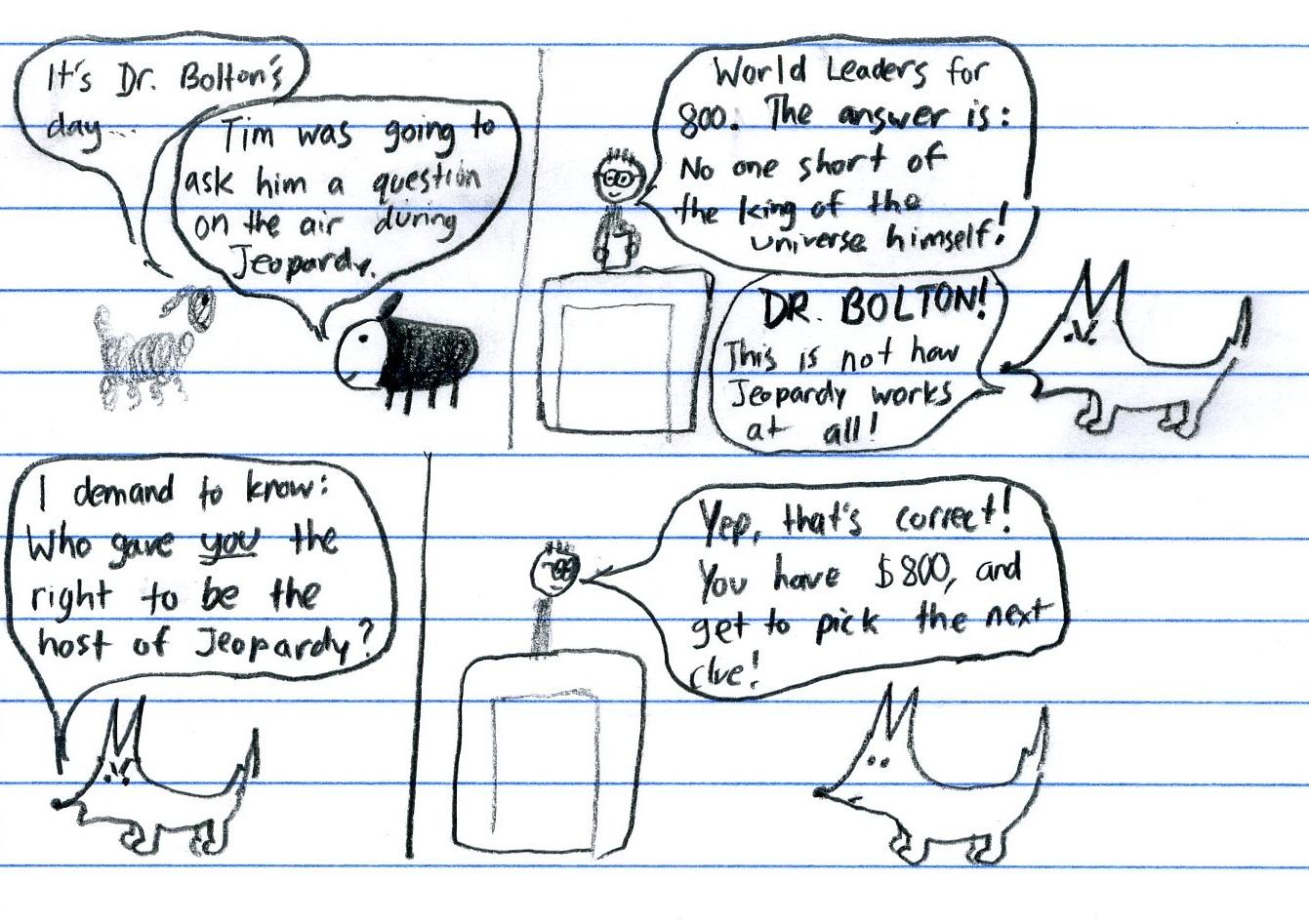 Dr. Bolton - Hosting Jeopardy